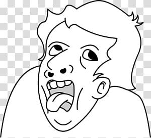 pria yang menunjukkan ilustrasi lidah, Rage komik Internet meme Genius YouTube, meme png