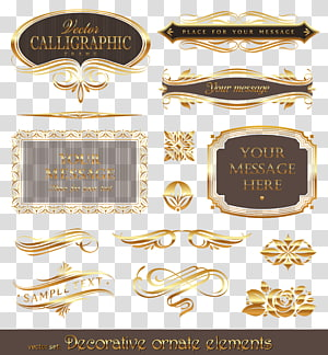 Euclidean Emas, bingkai pola emas, iklan elemen hiasan dekoratif png