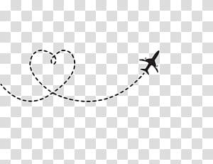 Pesawat Terbang Pesawat, rute pesawat berbentuk Hati, ilustrasi pesawat PNG clipart