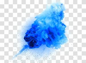Ilustrasi Ledakan, desain kreatif ledakan asap biru, kluster awan biru png
