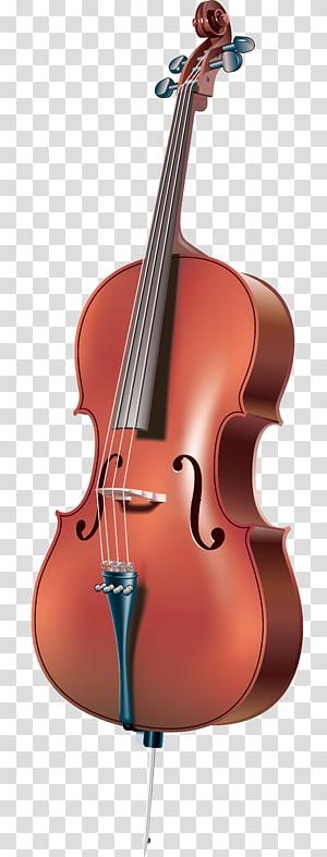 cello coklat, Cello Alat musik Ikon Cellist, biola realistis png