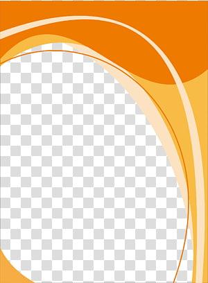 Templat poster, gelombang warna oranye dan kuning png