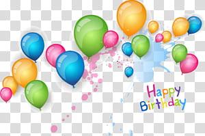 Kartu Ucapan Ulang Tahun Wish Undangan Pernikahan, bahan Selamat Ulang Tahun Balon, balon aneka warna dengan teks selamat ulang tahun png