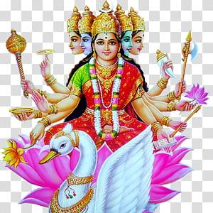 Ilustrasi Dewa Hindu, Gayatri Mantra Devi Veda, lakshmi mata png
