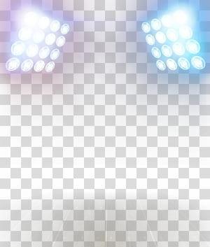 Cahaya, Efek pencahayaan kreatif, dua lampu sorot putih png