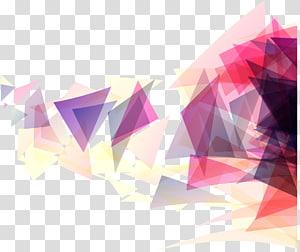 Segitiga Geometri Bentuk geometris, latar belakang geometris segitiga merah muda, lukisan abstrak merah dan beraneka warna PNG clipart