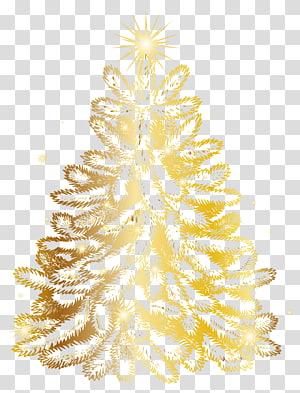 ilustrasi pohon Natal emas, pohon Natal Emas, Pohon Natal Emas PNG clipart