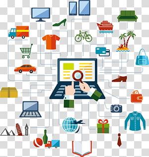 banyak barang, Belanja online, akan jaringan belanja online png