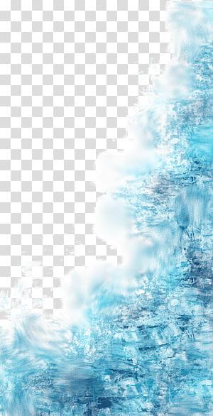Biru, percikan air biru, ilustrasi biru png