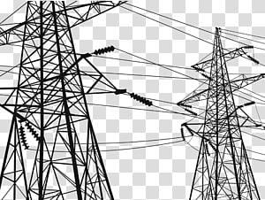 menara listrik, menara Transmisi Listrik Tegangan tinggi Kawat transmisi daya listrik, Perkotaan jalur tegangan tinggi png