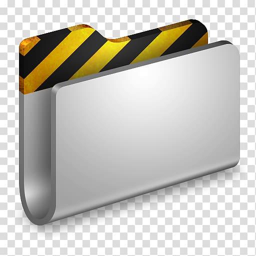 abu-abu, kuning, dan pemegang folder pengarsipan bergaris hitam, persegi panjang kuning, Projects Metal Folder png