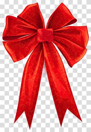 Merah, Red Bow dengan Hiasan Dekorasi, pita merah png