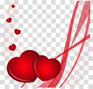 ilustrasi hati merah, undangan Pernikahan Hari Valentine Kartu ucapan Hati, Hari Kasih Sayang dan Dekorasi Web png