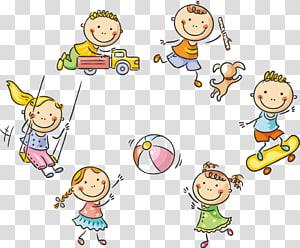 ilustrasi lingkaran bermain balita, Kartun Bermain Anak, 61 Anak-anak yang lucu bermain PNG clipart