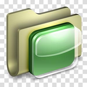 dokumen file putih, persegi panjang hijau, Folder Ikon iOS png