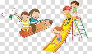 anak-anak bermain ilustrasi slide, file Komputer Adobe Illustrator, Anak-anak dalam tur png