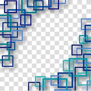 Persegi Euclidean Bentuk Persegi Panjang, Latar belakang teknologi, karya seni kotak biru dan persegi png