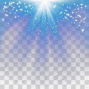 Pencahayaan, efek cahaya radial, permukaan berbintang biru dan putih png