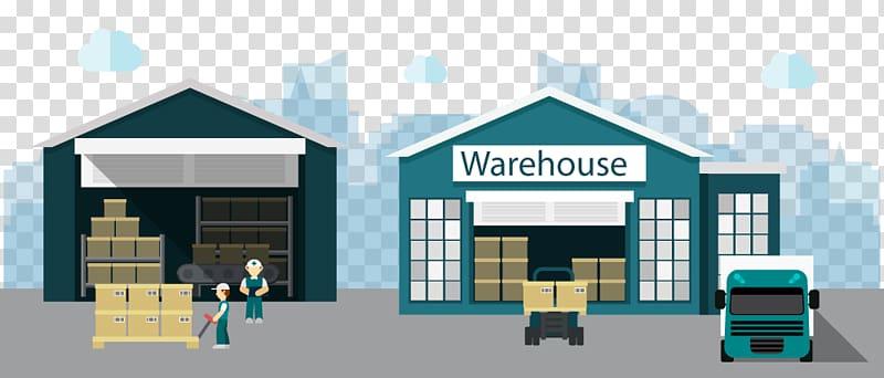 ilustrasi gudang hijau, Bisnis Distribusi Pabrik Gudang, gudang toko png