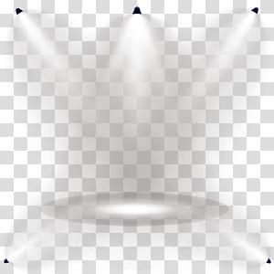 Pola Sudut Simetri Garis Cahaya, Lampu panggung menyinari efek pencahayaan, lima lampu sorot png