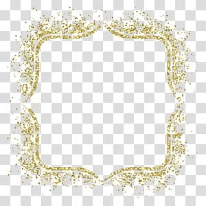 bingkai Glitter Gold, bahan bingkai Gold, bingkai glitter emas png