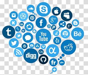 logo media sosial, Pemasaran media sosial, Iklan, Media Sosial Gratis png