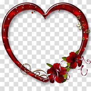 Perbatasan dan Bingkai Bingkai Jantung Cinta, bingkai cinta, ilustrasi bingkai hati merah png