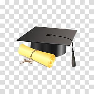 papan mortir hitam, topi akademik Square Upacara wisuda Diploma, Sarjana png