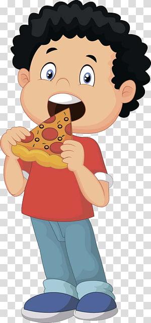 ilustrasi makan anak laki-laki pizza, Pizza pengiriman Makan, Makan anak-anak png