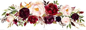 Anggur Marsala Undangan pernikahan Bunga, bingkai cat air mawar, bingkai mawar merah dan pink png