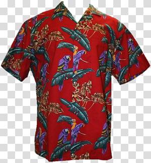 baju merah, biru, dan coklat, kaos Lengan Hawaii Aloha, Hawaii png