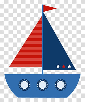 perahu layar biru dan merah, transportasi Maritim Perahu layar, kapal dan kapal pesiar png