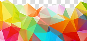ilustrasi abstrak beraneka warna, Polygon Geometry Color, Warna grafik abstrak png