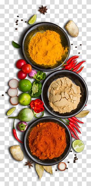 rempah-rempah, Chutney Masakan India Biryani Tandoori chicken Chicken tikka, Spices Hd png