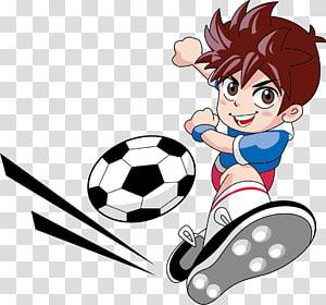 ilustrasi karakter pria berambut coklat, Pemain sepak bola Kiper, Anak laki-laki bermain sepakbola PNG clipart