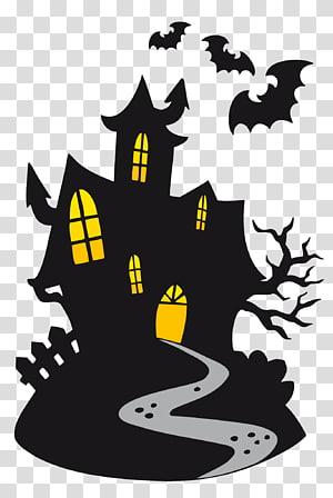 Hantu Kartun Halloween, Kastil Berhantu, kastil vampir hitam png