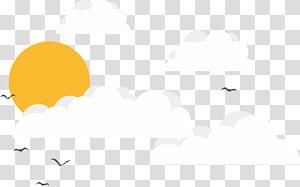 Ilustrasi Merek Putih, Langit, burung yang terbang di langit png