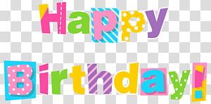 Kue ulang tahun Wish, Colorful Happy Birthday, signage template selamat ulang tahun png