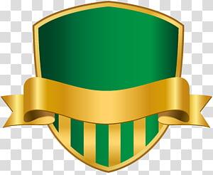 templte hijau dan kuning, Badge, Badge dengan Banner Green PNG clipart