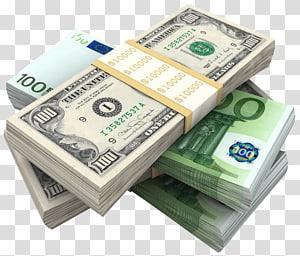 Ikon Uang, Bundel Dolar dan Euro, uang kertas 100 dolar AS png