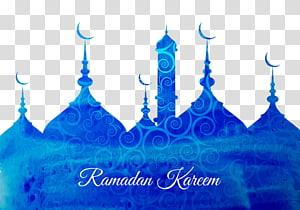 Ilustrasi teks Ramadhan Kareem, Idul Fitri Ramadhan Idul Fitri Mubarak Islam, Masjid Biru PNG clipart