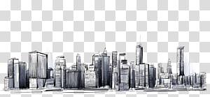 Kota Manhattan: Gambar Skylines, kota, sketsa kota PNG clipart