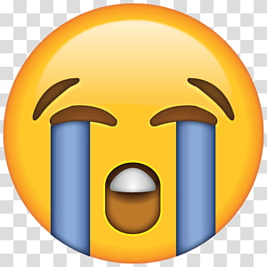 Wajah dengan Tears of Joy emoji Crying Laughter Sticker, Sad Emoji Pic, ikon emoji crying png