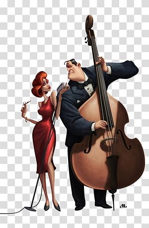 Cello Violin Ganda bass Viola Violone, Violin man png