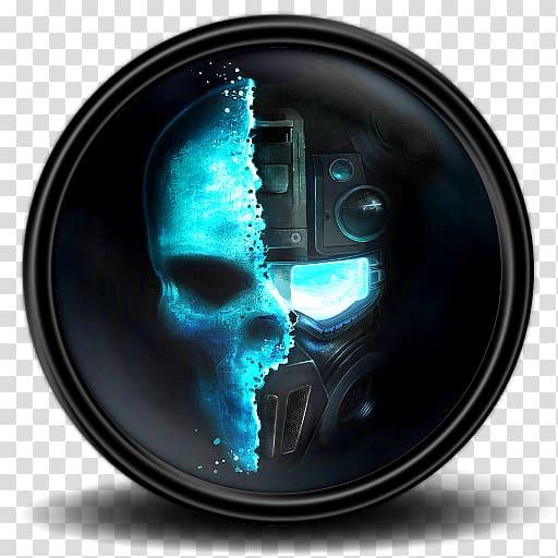 tengkorak tulang komputer, Ghost Recon Future Soldier 2, robot hitam dan biru dan grafis tengkorak png