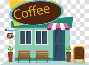 ilustrasi coffee shop terbuka, Coffee Cafe Makanan cepat saji, peta coffee shop png