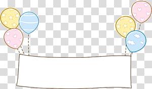 signage dengan ilustrasi balon, Pola Kertas Kuning, Batas balon png