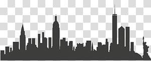 siluet bangunan kota, cakrawala kota new york, kota new york PNG clipart
