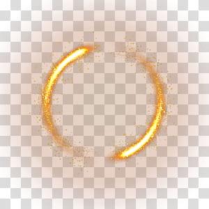 Cahaya, bahan efek cahaya Kuning, lingkaran percikan cahaya png