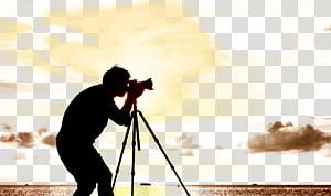 siluet manusia dengan kamera, grapher Silhouette Contre-jour, grapher Silhouette png
